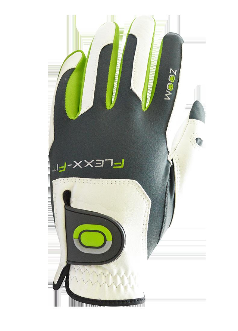 GolfTech Pánská golfová rukavice ZOOM bílá-antracit-lime